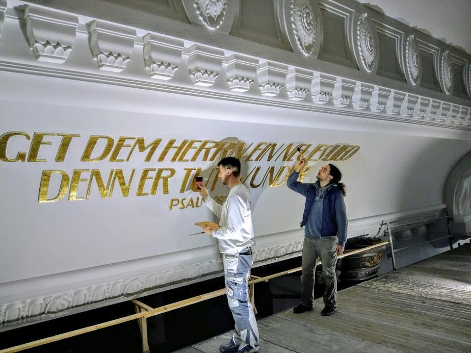 Friedenskirche aue zelle vergoldung der profilierten for Raumgestaltung aue